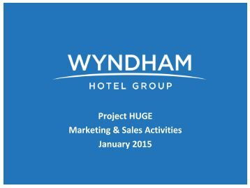 Project HUGE Marketing & Sales Activities January 2015