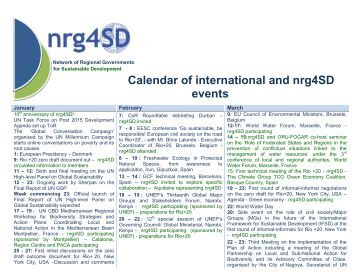 2012 calendar of international and nrg4SD events available here