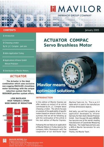 ACTUATOR COMPAC Servo Brushless Motor Mavilor means ...