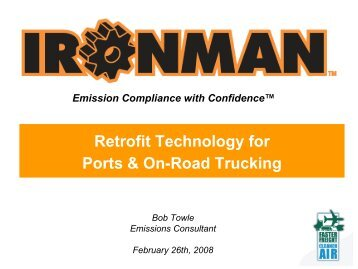 Retrofit Technology for Ports & On-Road Trucking - Faster Freight ...