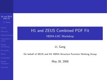 H1 and ZEUS Combined PDF Fit