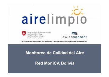 Monitoreo de Calidad del Aire Red MoniCA Bolivia - swisscontact