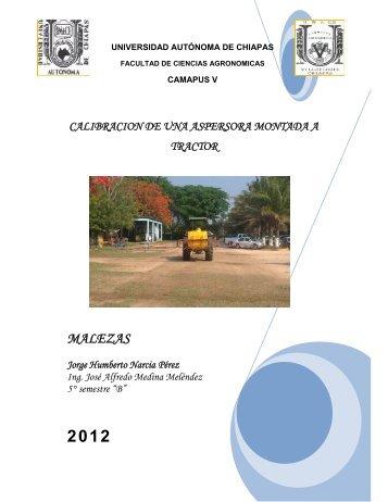 Calibracion de aspersora montada a tractor - Universidad Autónoma ...