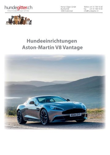 Hundeeinrichtungen Aston-Martin
