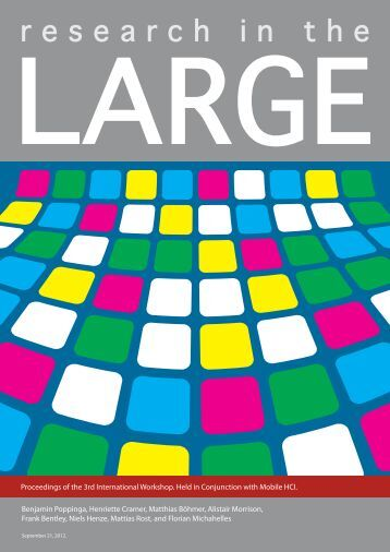 Proceedings of 3rd Workshop of Research in the Large: App Stores ...