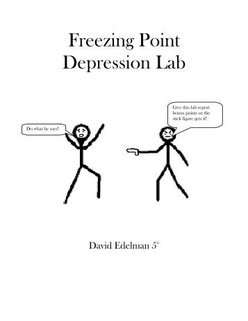 determining the freezing point lab experiment Can you use this this chemical property to design an experiment that would  answer your  part a: determination of freezing point of tert-butyl alcohol (tba.