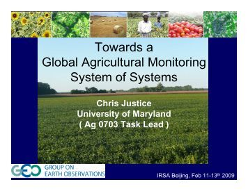4 Towards a Global Agricultural Monitoring System of ...