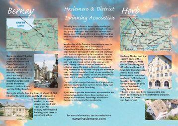 Twinning leaflet - Haslemere U3A