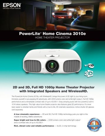 Powerlite® Home Cinema 3010e