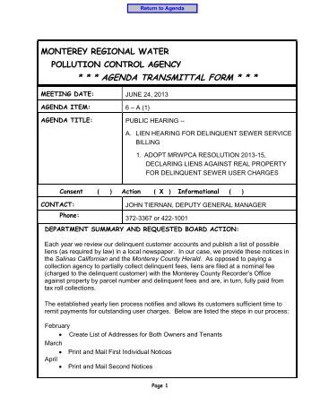 Monterey Regional Water Pollution Control Agency