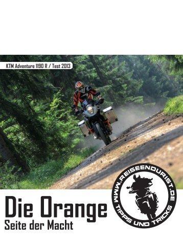KTM Adventure 1190 R / Test 2013