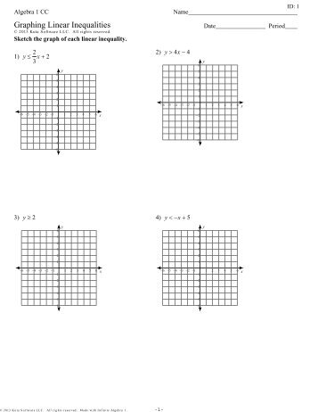 Graphing systems of linear inequalities worksheet pdf
