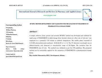 rp hplc method for estimation of ferrous ascorbate Antioxidant, biomolecule oxidation protective activities of nardostachys jatamansi dc and its phytochemical analysis by rp-hplc and gc-ms sakina razack , 1 kandikattu hemanth kumar , 1 ilaiyaraja nallamuthu , 1 mahadeva naika , 2 and farhath khanum 1, .