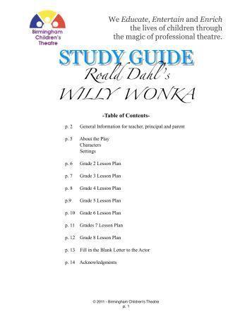 willy wonka jr script pdf