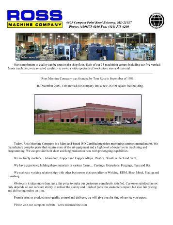 ross machine company