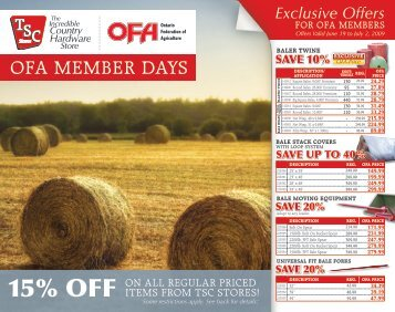 TSC's OFA Member Days Catalogue - Ontario Federation of ...