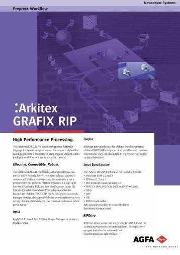 Arkitex Grafix Rip, prepress workflow, newspaper systems ... - GMDE