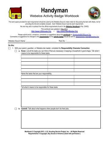 boy scout camping merit badge worksheet - laveyla.com