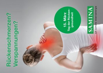 SAMINA Schlaftipps - Tag der Rückengesundheit