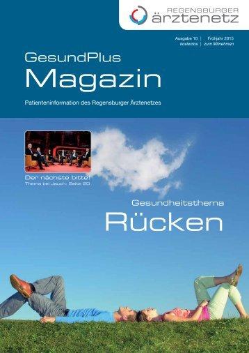 Patientenmagazin, Regensburg - Rücken
