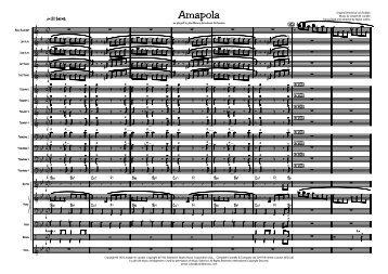 Amapola Published Score - Lush Life Music