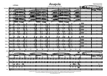 Amapola Published Score - Lush Life Music