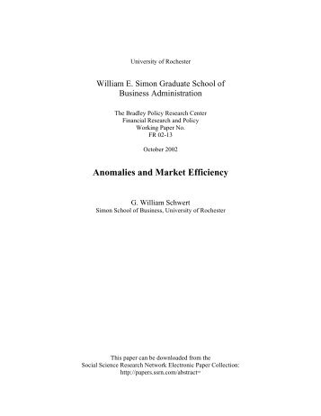market efficiency and anomalies Market efficiency anomalies work as a gauge or a yard stick to measure the market efficiency, we can conclude that karachi stock market is an inefficient market.