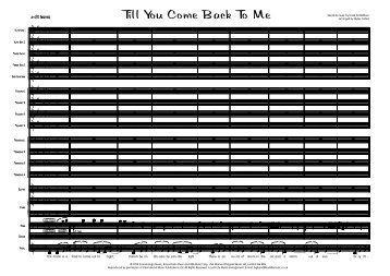 Till You Come Back To Me Published Score - Lush Life Music