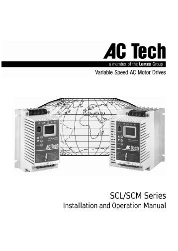 SCL Inverters - Installation & Operation Manual - Rotor UK