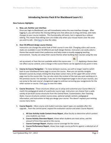 blackboard instructor manual 9.1