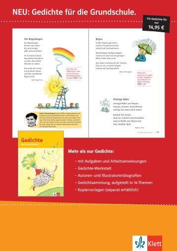 NEU: Gedichte für die Grundschule. - Ernst Klett Verlag