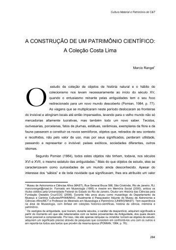 Artigo Marcio Rangel - Museu de Astronomia e Ciências Afins