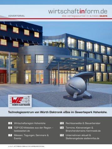 Wirtschaftsregion Hohenlohe | wirtschaftinform.de 03.2015
