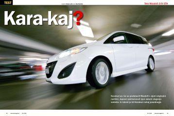 Test Mazda5 2.0i GTA - Avto Magazin