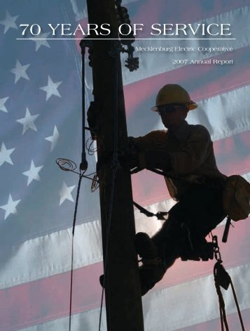 70 YEARS OF SERVICE - Mecklenburg Electric Cooperative