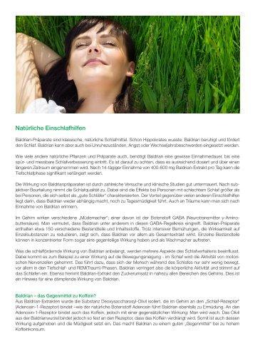 SAMINA Beitrag von Schlafpsychologe Dr. med. h.c. Günther W. Amann-Jennson - Natürliche Einschlafhilfen