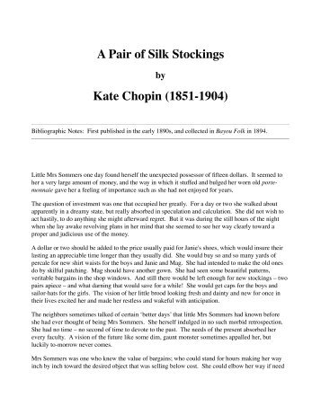 Kate chopin themes in her short stories essay
