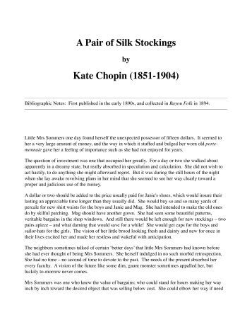 "the storm by kate chopin point of view Deconstruction reading of kate chopin's  the storm"" kate""s chopin ""the storm"" portrays the  person point of view but it."