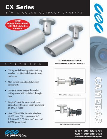 CX Series Outdoor Cameras - Security Camera Systems