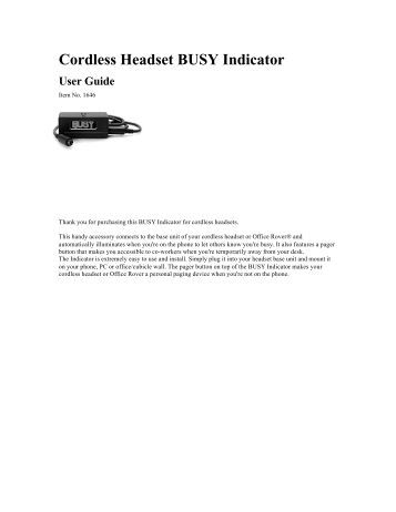 at&t headset tl7610 manual