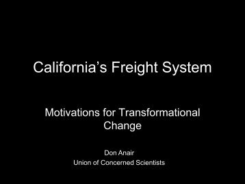 California's Freight System - Policy Institute