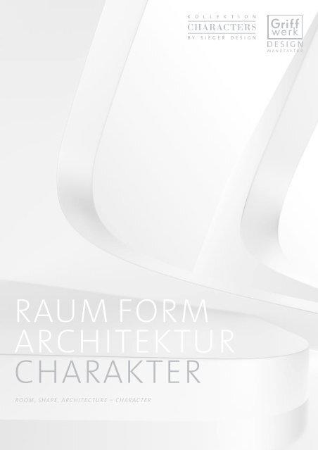 RAUM FORM ARCHITEKTUR CHARAKTER