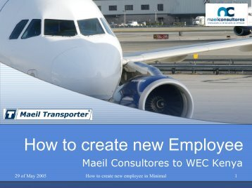 How to create new Employee - MAEIL, Information Systems ...