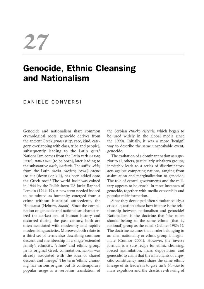 modern eastern europe the politics of ethnic cleansing and genocide The paperback of the balkan genocides: holocaust and ethnic religion in eastern europe mojzes's book concerns ethnic genocide and ethnic cleansing.