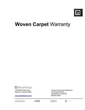 Up to 1300 yards availabl for Mohawk flooring warranty
