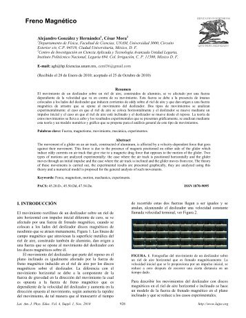 Freno Magnético - Latin-American Journal of Physics Education