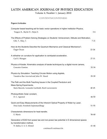 Index [PDF] - Latin-American Journal of Physics Education