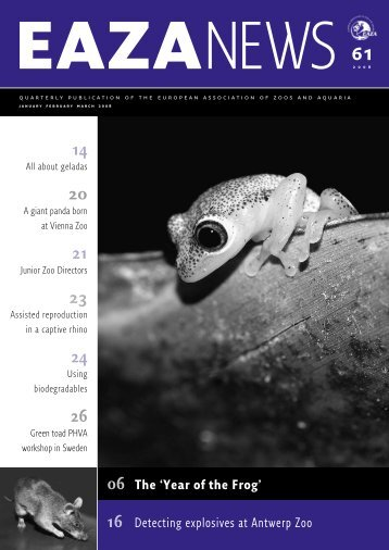 Year of the Frog - European Association of Zoos and Aquaria