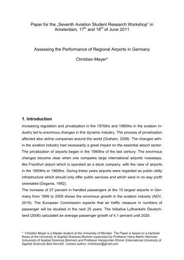 Paper for the - German Aviation Research Society