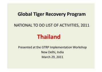 Thailand - Global Tiger Initiative